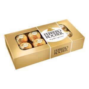 Bombones Ferrero Rocher Caja de 8 Unid. 100 gr