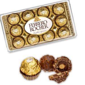 Bombones Ferrero Rocher Caja de 12 Unid. 150 gr